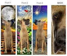 3 Set-GREAT DANE BOOKMARK Fawn Tan Black DOG Puppy Book Mark ART Card Figurine