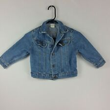 Lee Riders Girls Button Front Long Sleeve Denim Jacket Small Stone Wash Trucker