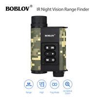 200M IR Night Vision Monocular 500M Laser Range Finder 6x32 Rangefinder Hunting