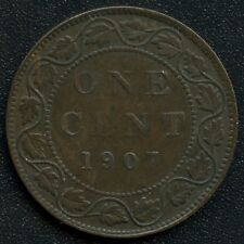 1907 'H' Canada Large Cent Coin