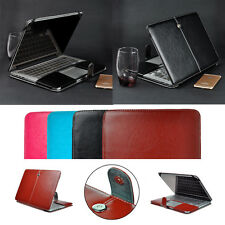 """Laptop PU Leather Folio Case Shell Protect Cover for MacBook Air Pro 11""""12""""13""""15"""