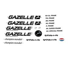 Gazelle 1980s Champion Mondial Bicycle Decals, Transfers, Stickers n.312