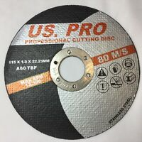 "10 X Metal Cutting/Slitting Disc Ultra Thin 115mm (4-1/2"") X 1mm fast  stainless"