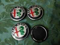 Loghi ruota Tappetti coprimozzo Colorati my2017 50mm Alfa Romeo MiTo 147 GT
