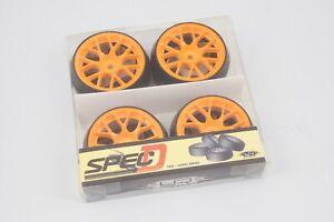 Yeah Racing WL-0079 Pneus Drift Offset + 3 Cercle Bbs Orange (4pz) Modélisme