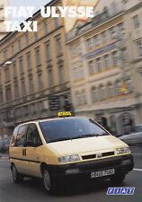 FIAT ULYSEE TAXI Ausstattung Prospekt Brochure 1996 57