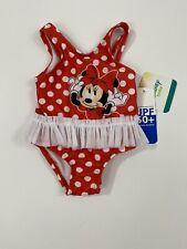 Disney Baby Minnie Mouse Red Polka Dot Tutu One Piece Swimsuit (Size 0-3 M)