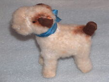 Rare Vintage Plush Stuffed Animal Mohair Toy Fox Terrier?, straw filling