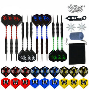 12PCS/Set Professional Steel Tip Darts+Aluminum Shaft+Tool+Sharpener+O Rings