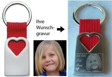 Herz Schlüsselanhänger Foto Gravur Fotogravur Geschenk ❤ Valentinstag Muttertag