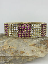 CLEARANCE Crystal Stone Gold Plated Pink Bangle Bracelet Punjabi Kada SIZE 2.6