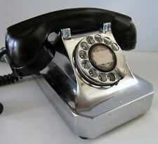 Stromberg Carlson Chrome Telephone 1940's