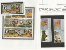 Niue, Postage Stamp, #194-5, 241-5c Sheets Mint NH, 1977-9 Flag, Ship, Queen