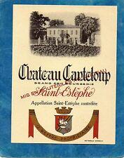 ST ESTEPHE GC BOURGEOIS ETIQUETTE CHATEAU CANTELOUP 1960/1970 RARE §06/02/18§