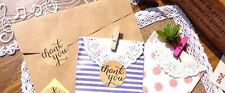 60 Round ThankYou Stickers Rustic Craft Label DIY Party Favour Lolly Bag AUSPOST