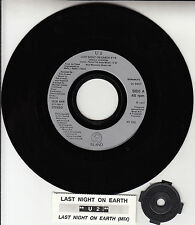 "U2 Last Night On Earth 7"" 45 rpm vinyl record + juke box title strip RARE!"