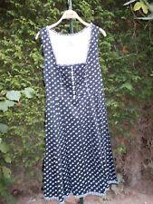 Damen Trachten Kleid ärmellos schwarz weiss geblümt Gr 42