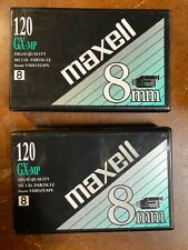Lot of 2 Maxell Gx-Mp 120 High Quality 8mm Camcorder Video Tape Sealed New