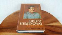 ERNEST HEMINGWAY, A LIFE STORY ~ BY CARLOS BAKER ~ 1st EDITION ~ HC/DJ ~ 1969.