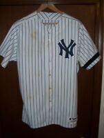 Doug Mientkiewicz game used worn jersey Yankees unwashed photo matches HOME RUN