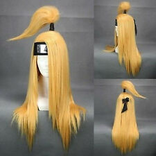 240A Akatsuki Deidara Blonde Cosplay Wig Costume