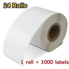 "24 Rolls 2.25""x1.25"" Direct Thermal Barcode Labels 1000/Roll Zebra LP2844 LP2824"