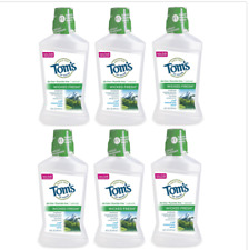 Tom's of Maine Wicked Fresh! Mouthwash Cool Mountain Mint 16 oz (Pack of 6)