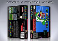 SUPER MARIO WORLD. NTSC. Box/Case. Super Nintendo. BOX + COVER. (NO GAME).