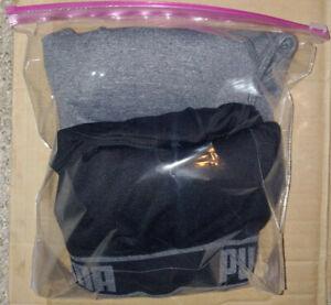 PUMA 2 Pack Seamless Sports Bra Black and Grey