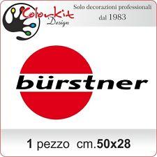 Scritta adesiva Burstner per camper e roulotte cm.50x28 - by Colorkit-001330