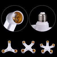 Adjustable Light E27 Lamp Adapter Bulb Holder Socket Base Splitter 3/4/5 in Ff