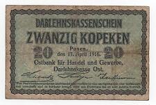 GERMANY 20 KOPEKEN 1916 PICK R 120 LOOK SCANS