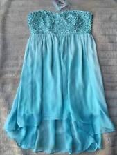 BNWT Forever New Chloe Flower Applique Dress Blue Radiance Size 14