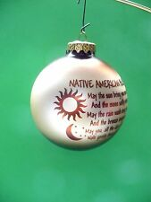 VINTAGE CHRISTMAS BRONNERS GLASS AMERICAN BLESSING BALL ORNAMENT HUNGARY VGC