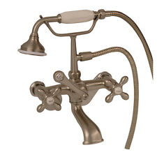 Barclay Elephant Spout Hand Shwr W/Swv L Mts, Crss Hdle, Brush Nickel 4602-MC-SN