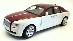 Kyosho 1/18 Scale 08802EWR - Rolls Royce Ghost - English White/Met Red