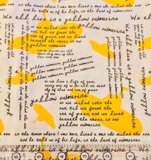 "BEATLES YELLOW SUBMARINE LENNON MCCARTHY ROCK MUSIC COTTON FABRIC FQ 18""x22"""