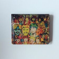 Leather Wallet Beatles wallet Rock and Roll Hall of Fame wallet Bi fold wallet