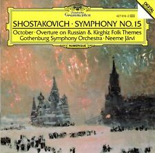 Shostakovich: Symphony No.15 October Overture On Russian Kirghiz Folk (CD, 1989)