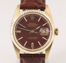 Rolex Datejust - 36 mm-Ref. 1601 - 18 K 750 dorado-Stella Oxblood