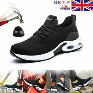 Mens Safety Shoes Steel Toe Cap Work Boots Women Lightweight Safety Trainers