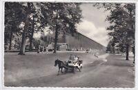 Ansichtskarte Bad Rothenfelde - Partie am Gradierwerk mit Kutsche - schwarz/weiß