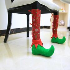 Elf Foot Chair Table Leg Sleeve Cover Home Xmas Party Christmas Table Decoration
