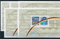 5 x Bund Block Nr. 22 ** postfrisch BRD 1481 - 1482 Jahrestag Grenz Öffnung 1990