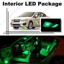 For Subaru Impreza WRX 2004-2018 Green LED Interior Kit +Green License Light LED