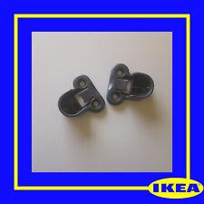130627 X 2 ORIGINAL IKEA PAX Wardrobe Brackets Clips for Rail GREY