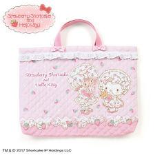 Quilting Hand Bag Hello Kitty Strawberry Shortcake Pink ❤ Sanrio Japan