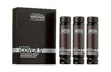 3 x 50 ml L'Oreal HOMME dark brown Cover 5 hair color gel for men number 3