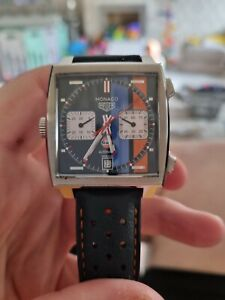 Special Edition Tag HEUER Monaco X Gulf Steve Mcqueen Chronograph Watch
