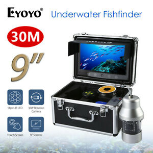 Eyoyo 9 Inch LCD Monitor Fish Finder 20M Underwater 1000TVL Fishing Camera~
